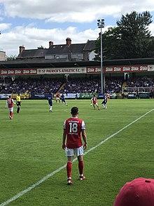 9803180dc7140c Dean Clarke vs Chelsea.jpg. Clarke in action for St Patrick's ...