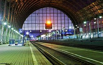 Moscow Kiyevsky railway station - Image: Debarkader, Moscow, Kyivskiy Train Station
