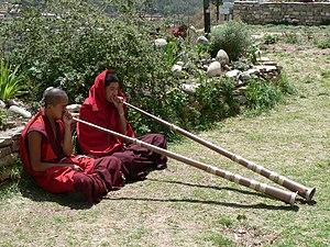 Music of Bhutan - Image: Dechen Phodrang monastic school, Thimphu 2