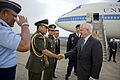Defense.gov News Photo 100722-D-7203C-001 - Secretary of Defense Robert M. Gates is greeted by Indonesian military members after his arrival at the Halim Perdanakusuma International Airport.jpg