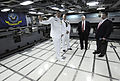 Defense.gov News Photo 100731-F-6655M-016 - Secretary of Defense Robert M. Gates receives a tour after his wife Becky Gates sponsored the commissioning ceremony for the Virginia-class attack.jpg