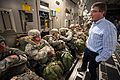Defense Secretary Ash Carter speaks with paratroopers as they prepare to jump at the Sicily drop zone on Fort Bragg, N.C., July 10, 2015 150710-A-FV376-070AB.jpg