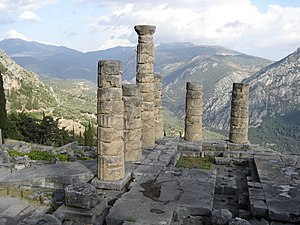 The Temple to Apollo. This is where the priest...