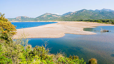 Delta of the Fangu river and beach near Galéria, Corsica (France).jpg