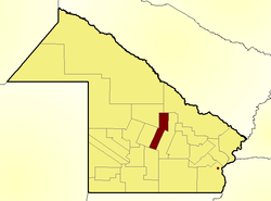Location of Quitilipi Department in Chaco Province