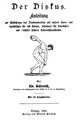 Der Diskus. Anleitung von Christian Georg Kohlrausch, 1882, Titel.png