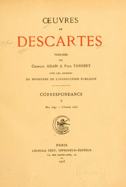 File:Descartes - Œuvres, éd. Adam et Tannery, V.djvu