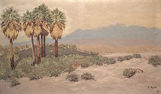 1914 in art - Image: Desert near Palm Springs Oil painting by Carl Eytel (1914)