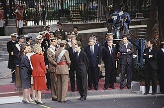 Fiesta Nacional de España - Image: Desfile militar de las Fuerzas Armadas el día de la fiesta nacional de España