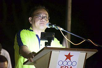 Desmond Lim - Image: Desmond Lim Bak Chuan at a Singapore Democratic Alliance rally during the 2015 general election 20150904 02