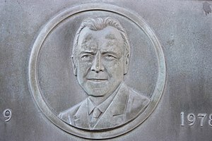 John Mackintosh (Scottish politician) - Detail of plaque to John Pitcairn MacKintosh, Gifford, East Lothian