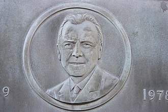 John Mackintosh (Scottish politician) - Detail of plaque to John Pitcairn MacKintosh, Gifford, East Lothian