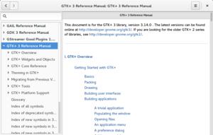 GNOME Devhelp - Image: Devhelp 3.14