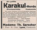 Die größte Karakulherde Frankreichs, Lyon 1930, Anzeige.jpg