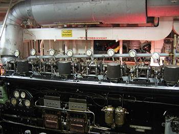 Diesel generator on MS Cap San Diego (Hamburg)