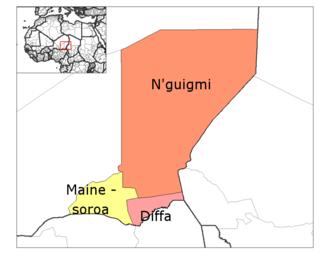 Diffa Region - Departments of Diffa