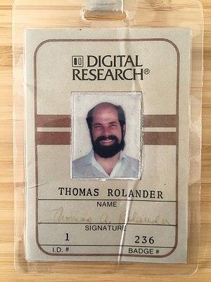 Tom Rolander - Image: Digital Research Badge Thomas Rolander