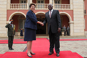 Corruption in Angola - Presidents Jose Eduardo dos Sants and Brazilian Dilma Rousseff