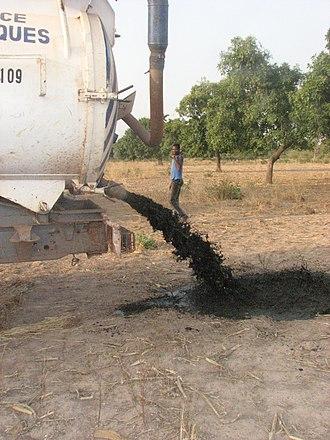 Fecal sludge management - Lack of fecal sludge management: Discharge of fecal sludge into the environment in Burkina Faso