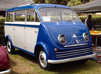 Minivan - DKW Schnellaster (1949-1962), with front-wheel drive, transverse engine, flat floor, and multi-configurable seating