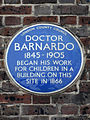 Doctor Barnardo 1845-1905 began his work for children in a building on this site in 1866.jpg