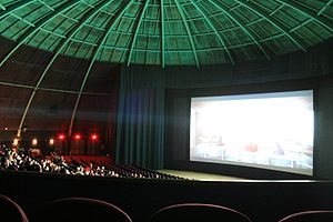 "Pleasant Hill, California - Interior of the CinéArts ""Dome"" Theater on its last night of operation – April 21, 2013"