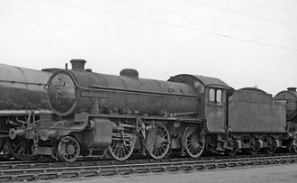 LNER Thompson/Peppercorn Class K1 - Prototype K1 No. 61997 'MacCailin Mor' in Doncaster Carr Locomotive Yard 23 April 1961