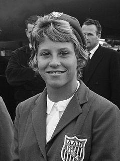 Donna de Varona American swimmer, Olympic gold medalist, former world record-holder, television sportscaster