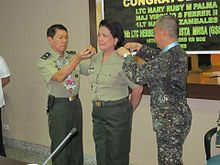 Donning of LTC Mary Ruby M Palma