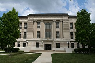 Douglas County, Illinois - The west side of the Douglas County courthouse.