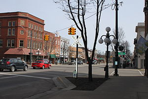 Tecumseh, Michigan - Downtown Tecumseh.