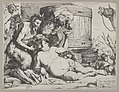 Drunken Silenus holding a cup aloft into which a Satyr pours wine MET DP836585.jpg