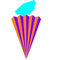Dual pentagonal cupola net.png