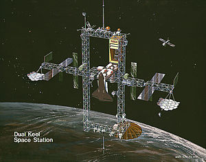 "Space Station Freedom - ""Dual keel"" space station concept (1986)"