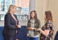 During a visit to NICVA in north Belfast today, Karen Bradley MP dropped in for a chat with staff from Action Cancer who were hosting an event. (30868427458).png