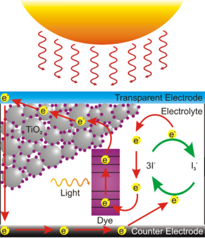 Dye-sensitized solar cell - Operation of a Grätzel cell.