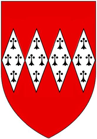 John Dynham, 1st Baron Dynham - Arms of Dynham: Gules, four fusils in fess ermine