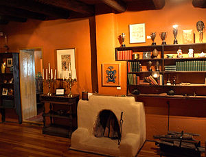Taos, New Mexico - E.L. Blumenschein House Library, National Register of Historical Places