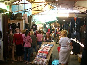 Dordoy Bazaar - A busy day in the apparel section
