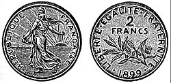 EB1911 Numismatics - French 2 francs.jpg