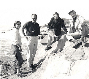 Sydney Brenner - Esther Lederberg, Gunther Stent, Sydney Brenner and Joshua Lederberg pictured in 1965