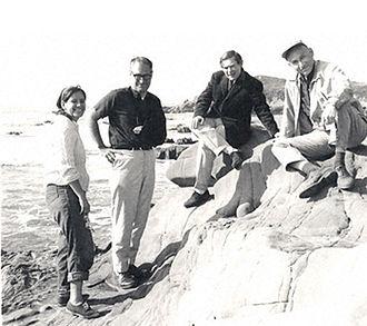 Sydney Brenner - Esther Lederberg, Gunther Stent, Sydney Brenner and Joshua Lederberg pictured in 1965