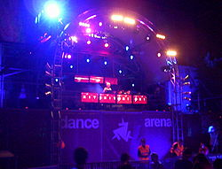 Dance arena in July 2006, one of the most popular stages on EXIT music festival