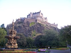 Edinburgh Castle from Princes Street Garden.