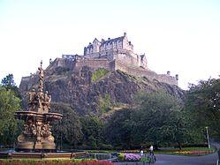 Edinburgh Castle from Princes Street Garden.