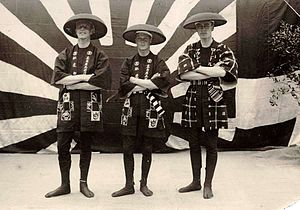 Happi - Edward, Prince of Wales (centre), later Edward VIII of the United Kingdom, wearing a happi