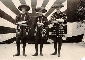 Fruity Metcalfe - Pictured in local costume in Japan in 1922 (L-R): Metcalfe, Edward, Prince of Wales. and Louis Mountbatten