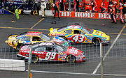 Labonte #43 races to the end of pit lane in 2006