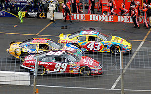 Bobby Labonte - Labonte No. 43 races to the end of pit lane in 2006