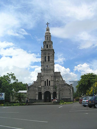 Saint-Benoît, Réunion - The church of Sainte-Anne in the commune of Saint-Benoît